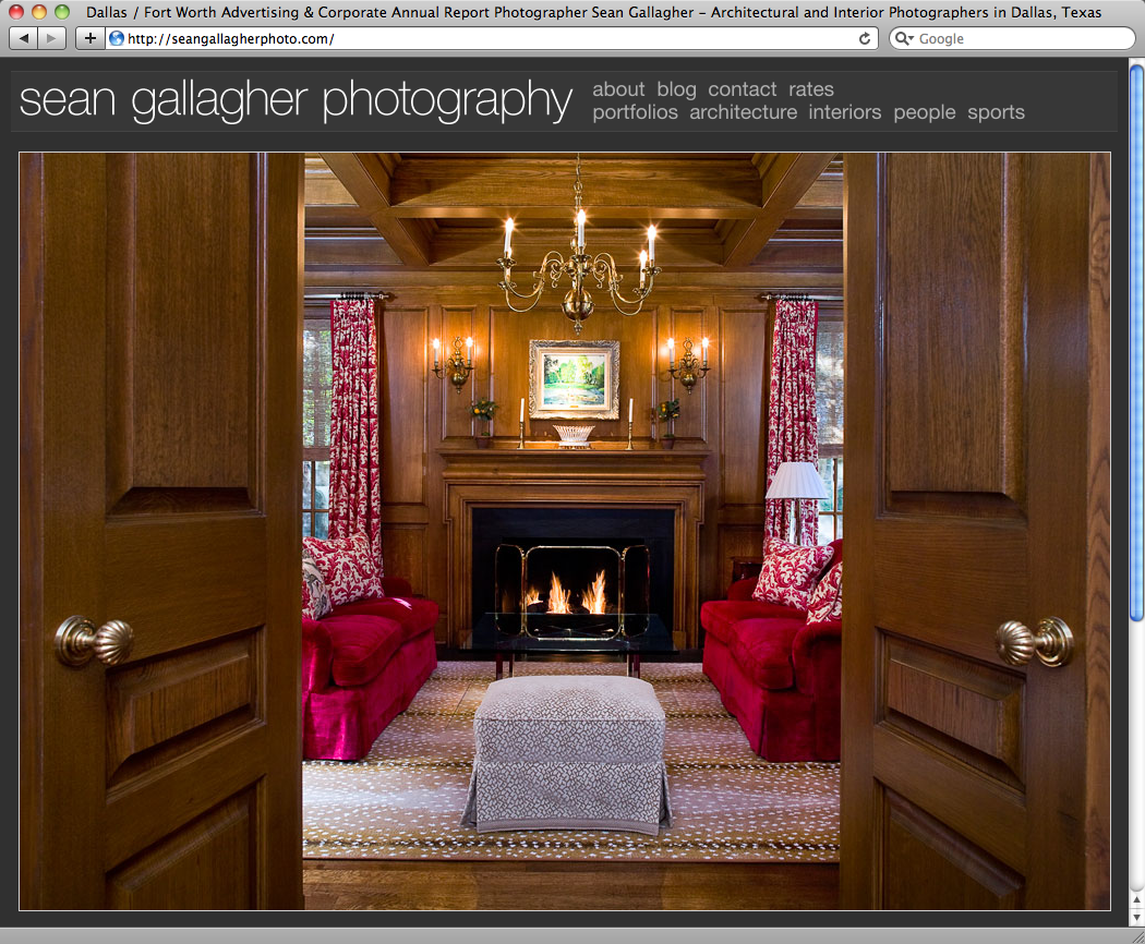 Sean Gallagher Photography website