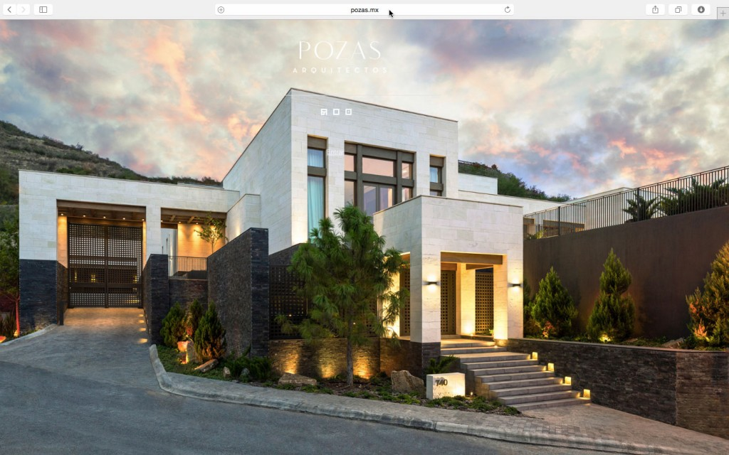 Website screen capture of Sean Gallagher Photography images for Pozas Arquitectos.